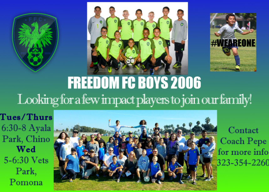 Freedom B06 Looking for Players